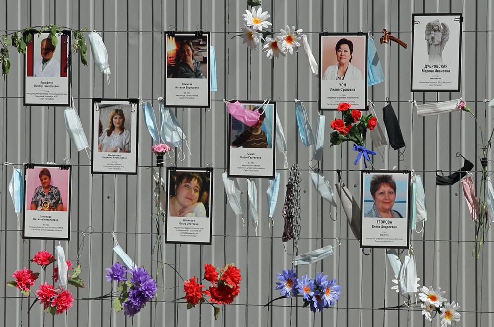 фото ЗакС политика Памятник погибшим от COVID-19 медикам Петербурга откроют 4 марта