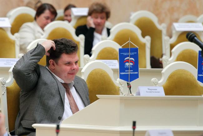 """фото ЗакС политика Депутат Марченко обиделся на """"Яблоко"""" и будет добиваться признания партии иноагентом"""
