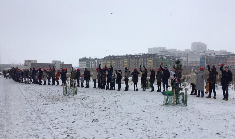"""фото ЗакС политика Жильцы """"Балтийской жемчужины"""" вышли на протестный флэшмоб"""