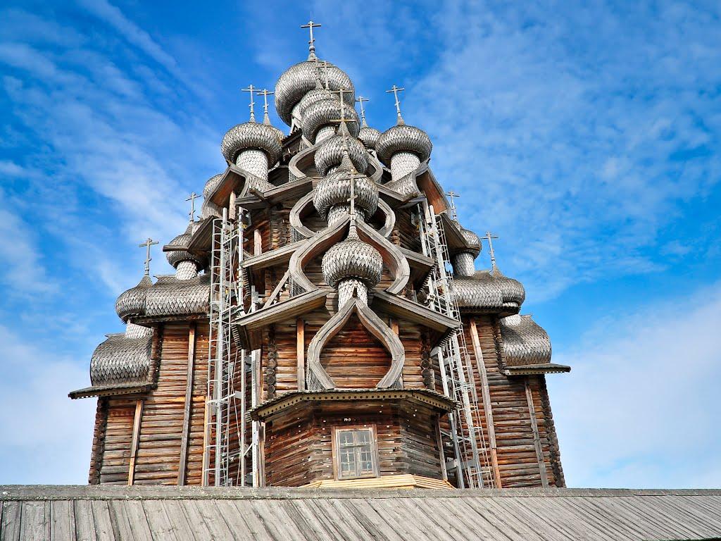 фото ЗакС политика На острове Кижи закончили 11-летний ремонт Преображенской церкви