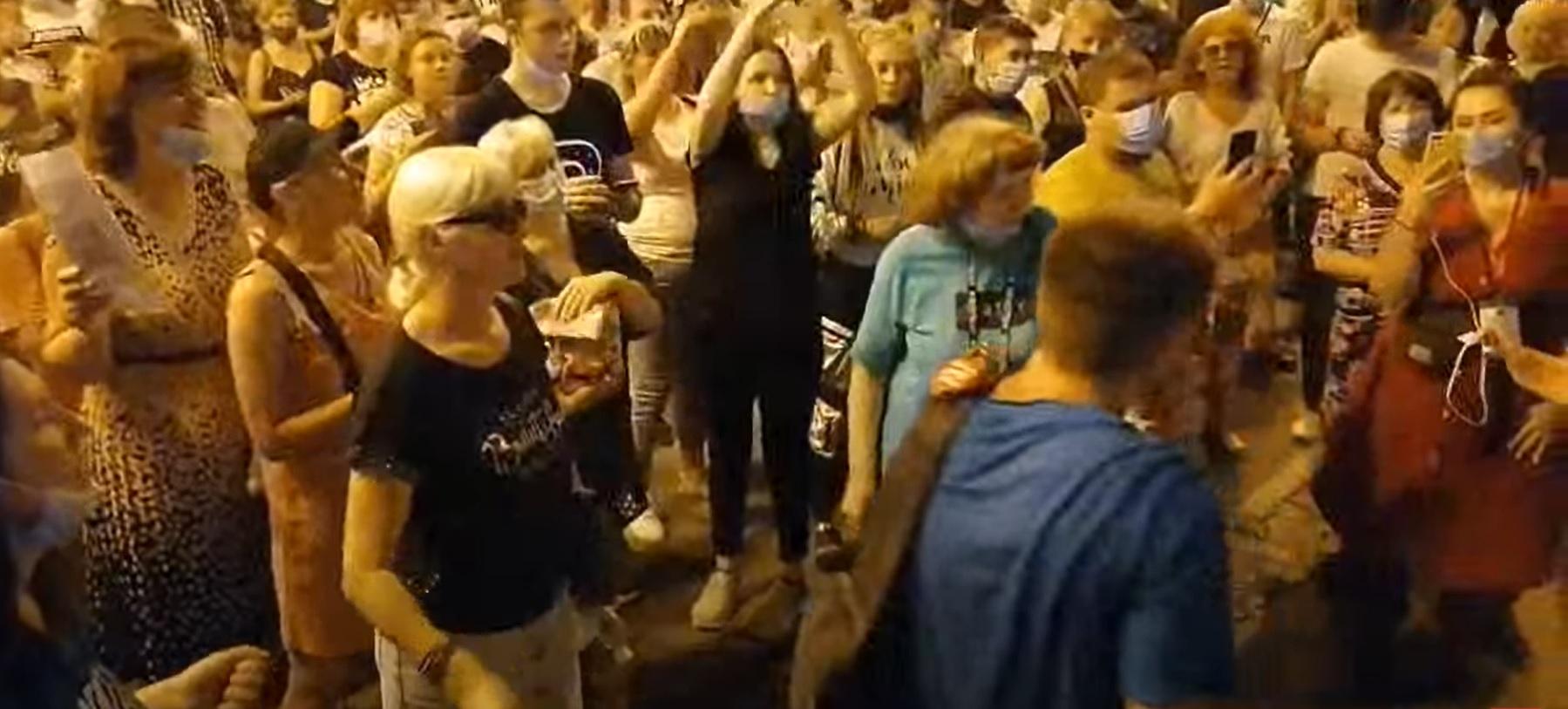 фото ЗакС политика Хабаровчане вышли на пятый подряд несанкционированный митинг