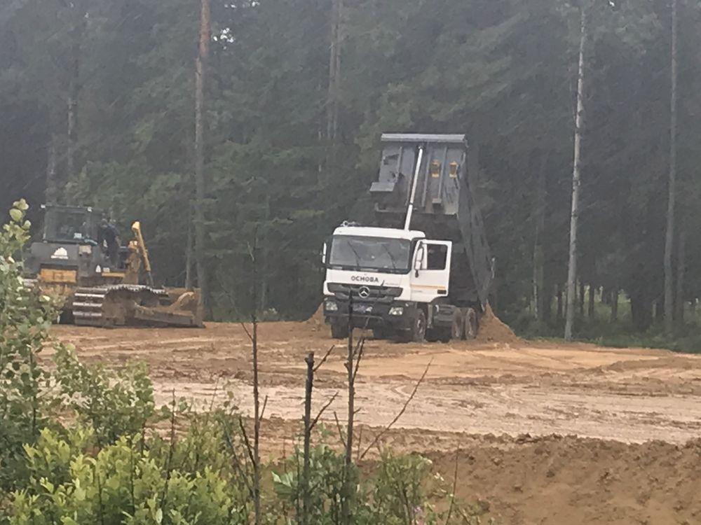 В Буграх прекратили незаконную добычу песка