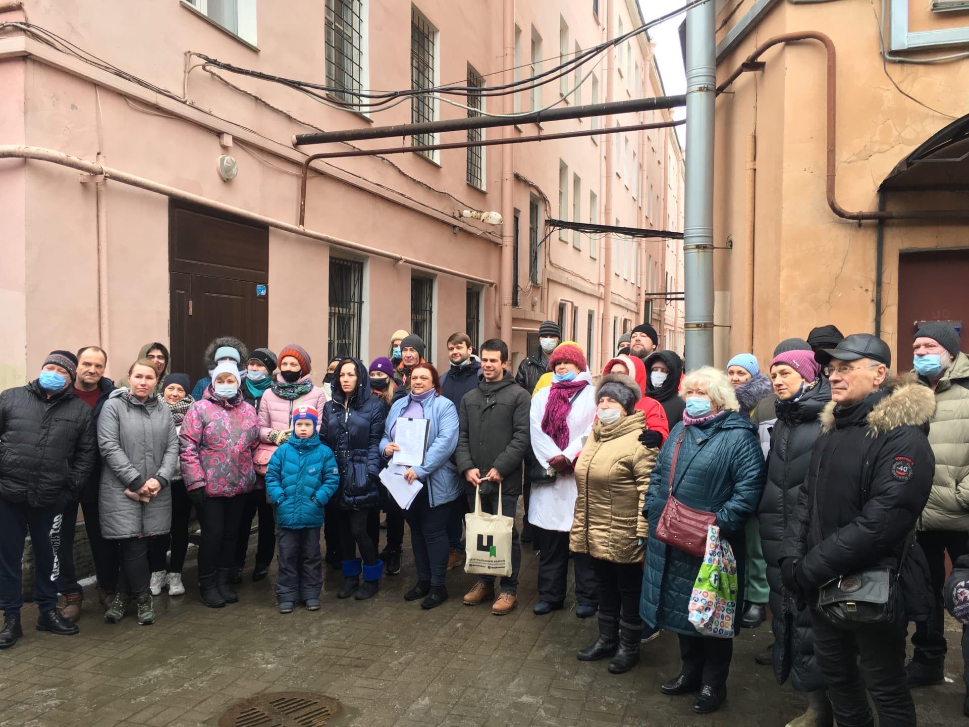 фото ЗакС политика Жители Центрального района провели народный сход против уплотнительного строительства