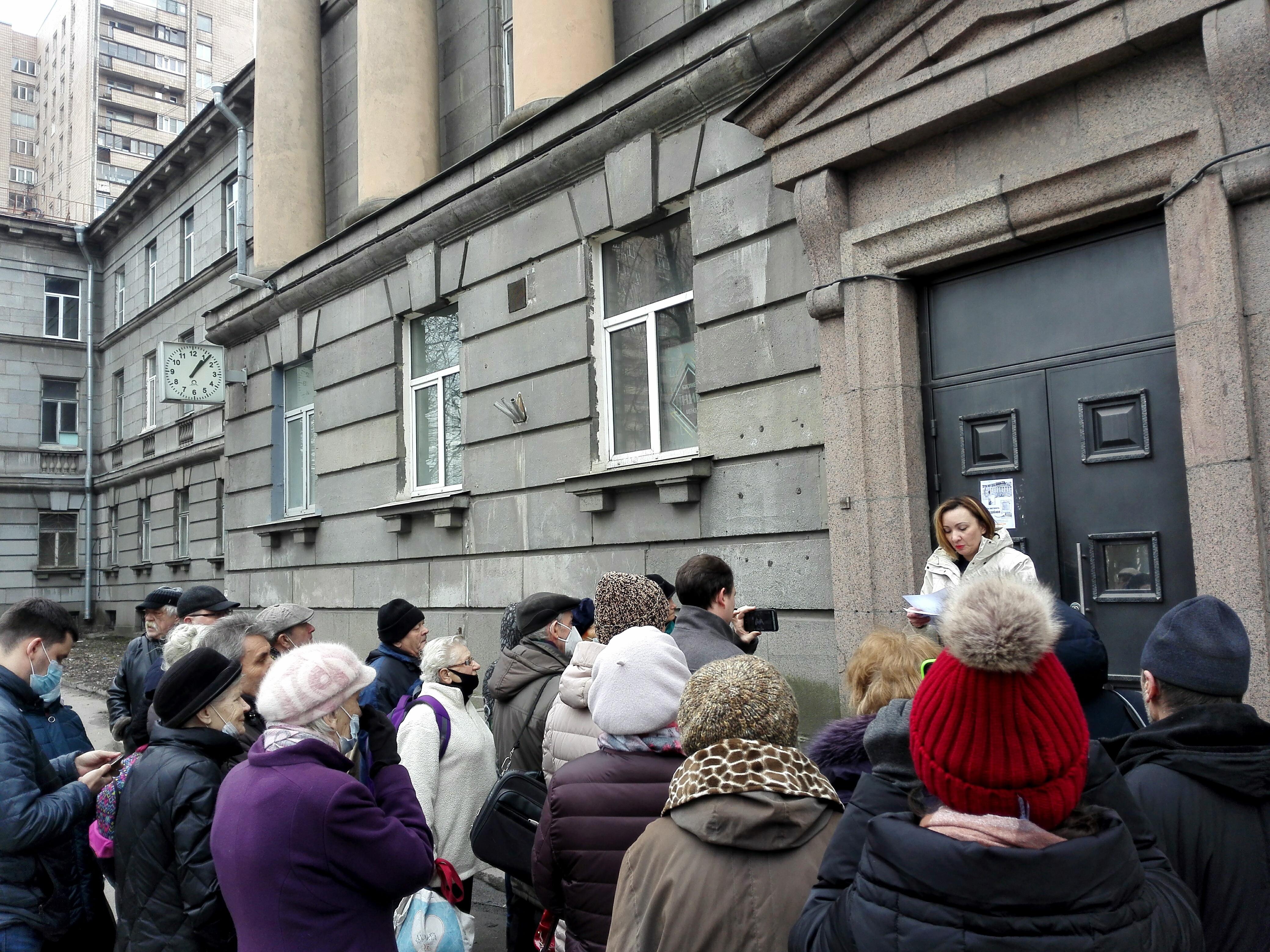 Защитники здания ВНИИБ вновь собрались на народном сходе