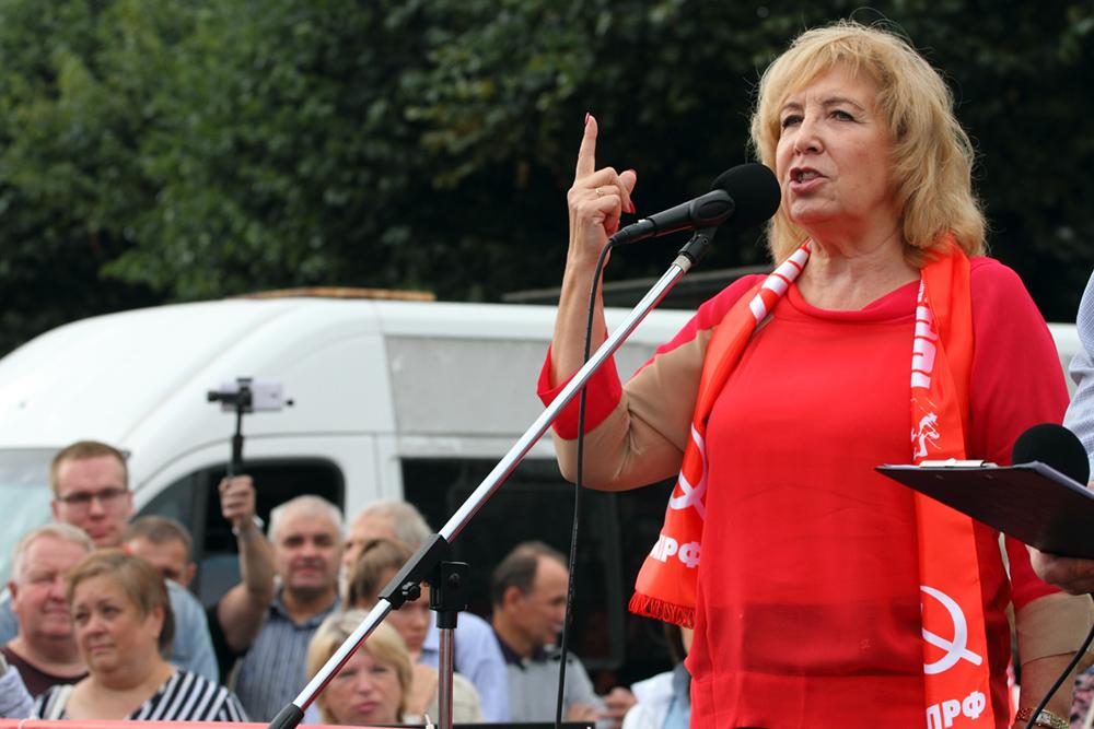 Ходунова: Задержанных на акции КПРФ отпустили после вмешательства Зюганова