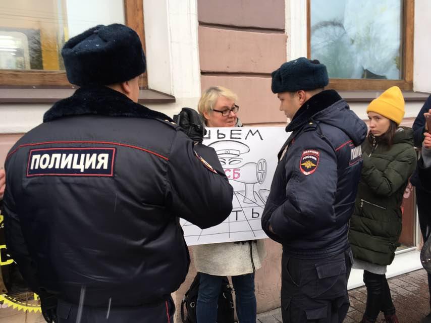 """фото ЗакС политика """"Ты сядешь следующим"""": У Гостиного двора пикетируют, требуя свободы для политзэков"""