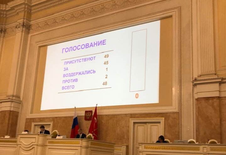 фото ЗакС политика Против повестки ЗакСа из одного вопроса проголосовали два депутата