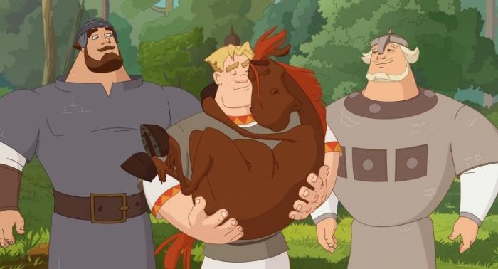 """фото ЗакС политика ОМ: Героев мультфильма """"Три богатыря"""" используют для агитации за изменение Конституции"""