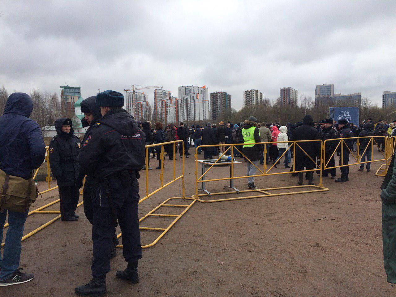 фото ЗакС политика Защитники Пулковской обсерватории требуют запретить Setl City вести строительство в Петербурге