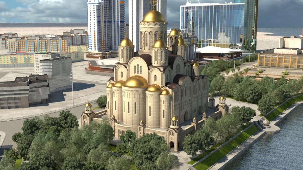 фото ЗакС политика Сквер у Театра драмы в Екатеринбурге включат в опрос о месте строительства храма