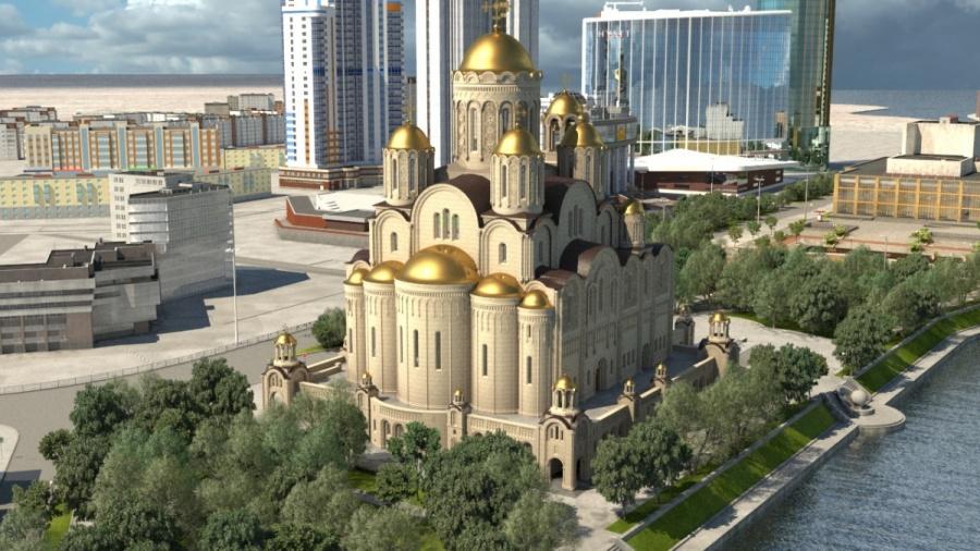 фото ЗакС политика Строящий храм в сквере Екатеринбурга фонд решил демонтировать забор вокруг стройки