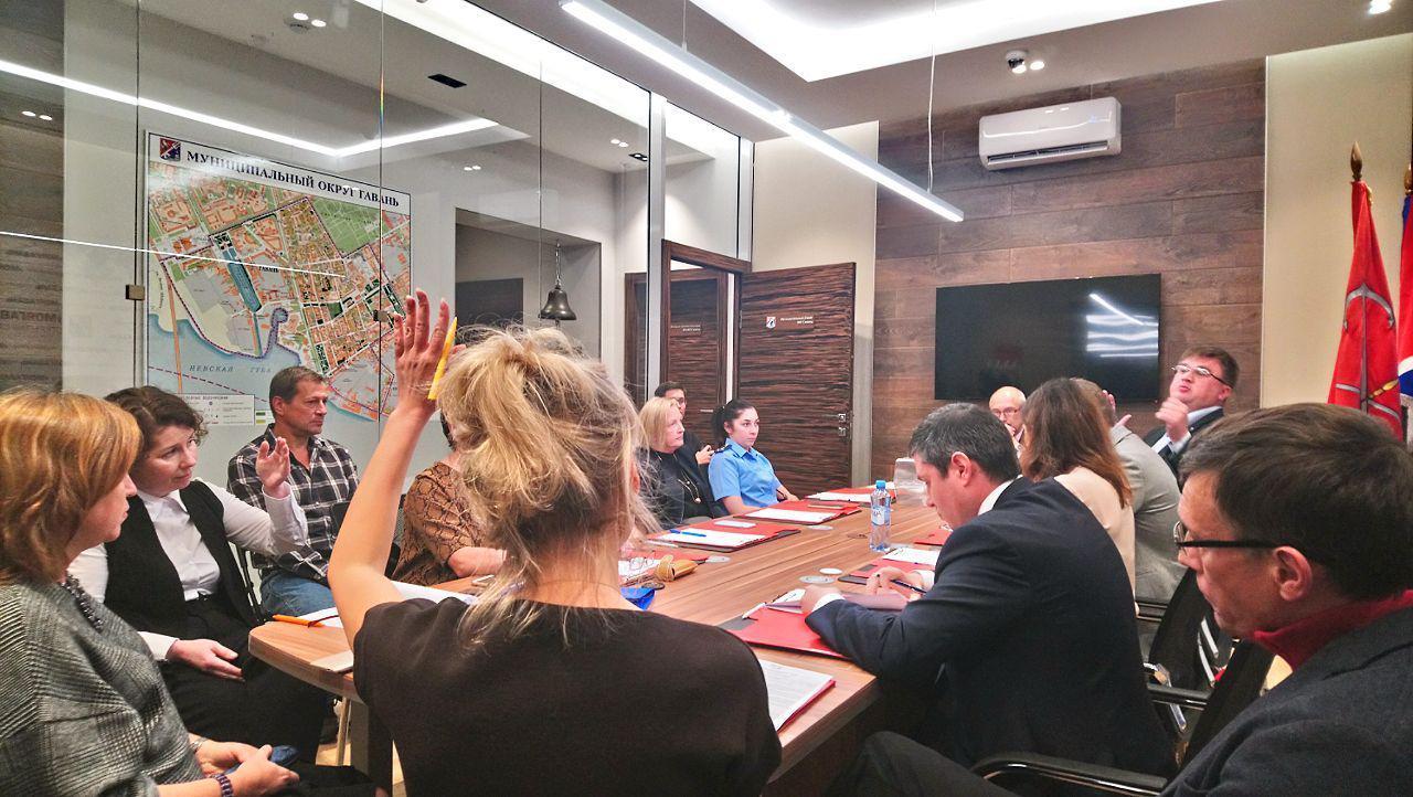 "фото ЗакС политика Нэлли Вавилину избрали главой совета МО ""Гавань"""