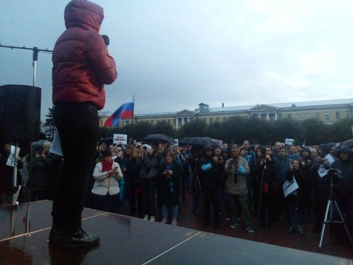 фото ЗакС политика В Петербурге начался митинг против фальсификаций на выборах