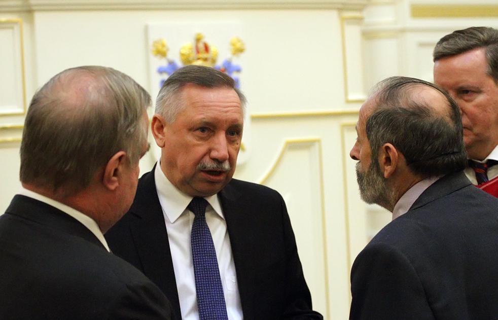 фото ЗакС политика Беглов дал в Смольном аудиенцию губернатору Ненецкого автономного округа