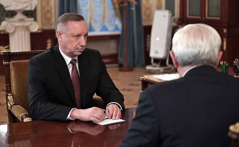 """фото ЗакС политика Беглов сообщил Путину о планах расширить понятие """"блокадник"""""""