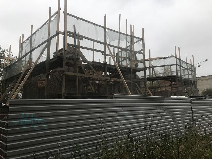 фото ЗакС политика СК поручил разобраться с разрушением Александровских ворот Охтинских пороховых заводов