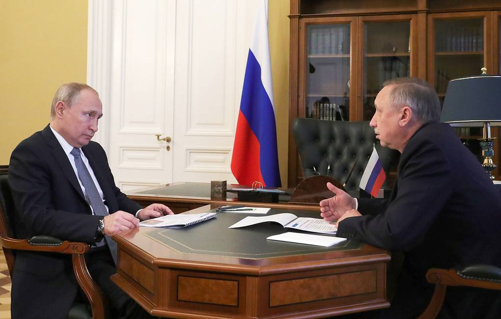 """фото ЗакС политика """"Доведите дело до конца"""": Путин напомнил Беглову о личной ответственности за выплаты медикам"""