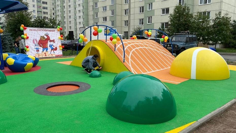 фото ЗакС политика Во Всеволожске открыли подаренную Бегловым детскую площадку