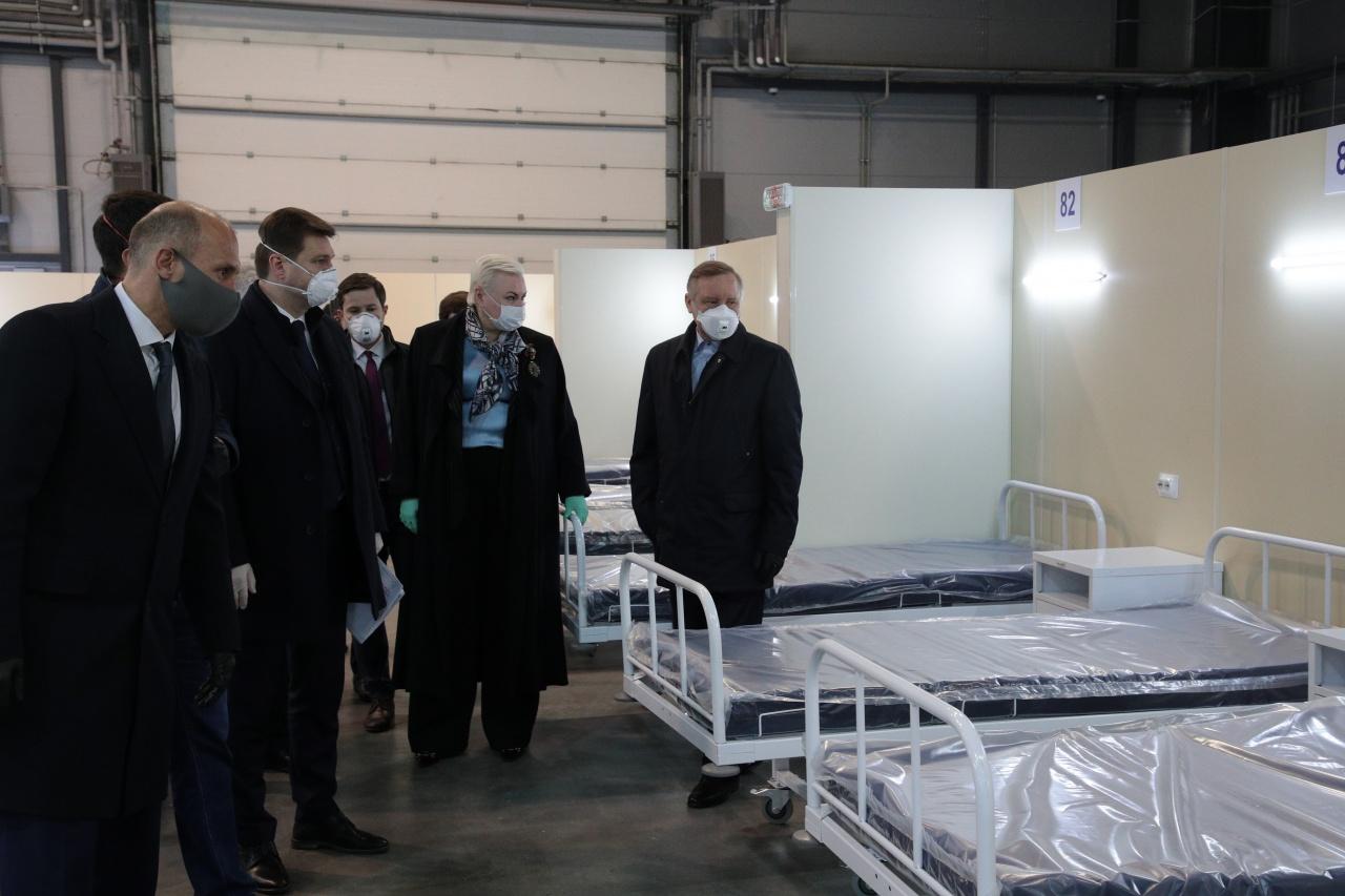 """фото ЗакС политика """"Газпром"""" передал еще пять павильонов """"Ленэкспо"""" под госпиталь для пациентов с коронавирусом"""