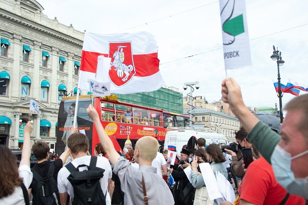 """фото ЗакС политика В Минске проходит митинг в последний день действия """"ультиматума от Тихановской"""""""