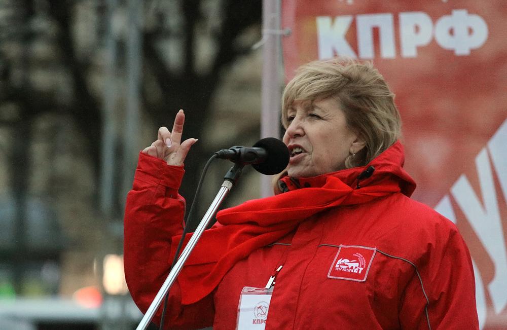 фото ЗакС политика Ходунова возмутилась двойными стандартами: Пикеты у консульства Беларуси разрешают, а 7 ноября нет