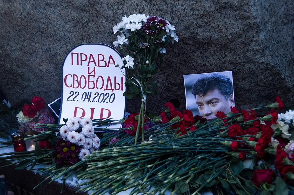 Активисты хотят восстановить мемориал Немцову в Москве 24 февраля
