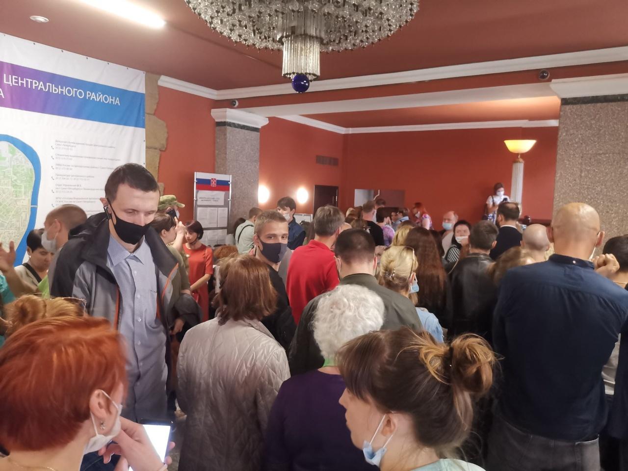 В администрации Центрального района столпились наблюдатели за всероссийским голосованием