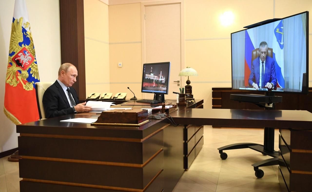 фото ЗакС политика Путин одобрил выдвижение Дрозденко в губернаторы Ленобласти и пожелал удачи