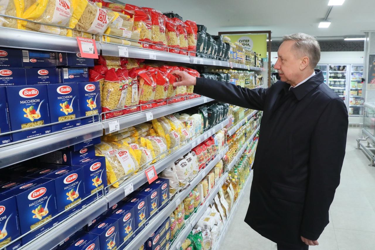 фото ЗакС политика Беглов нашел в магазинах Петербурга рис и гречку