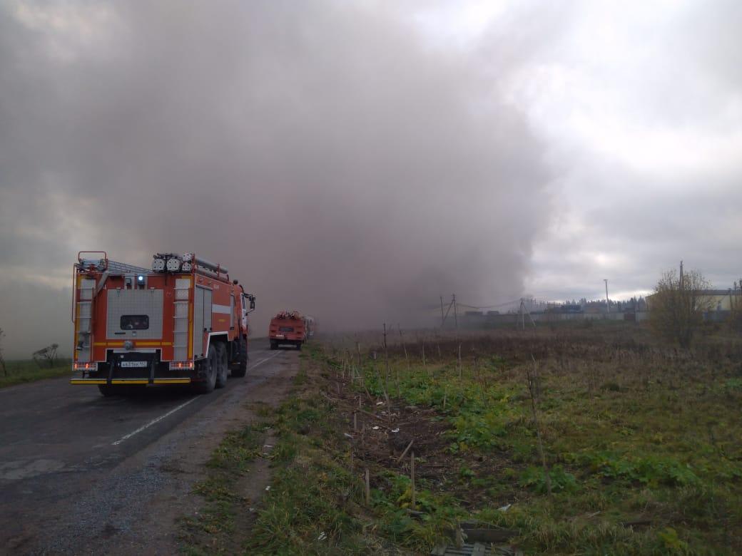 фото ЗакС политика В Ленобласти загорелся лакокрасочный завод