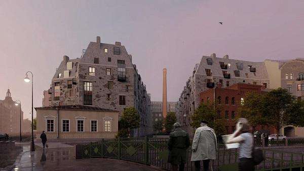 фото ЗакС политика Общественности представили внешний вид ЖК Meltzer Hall, с которым борется Макаров