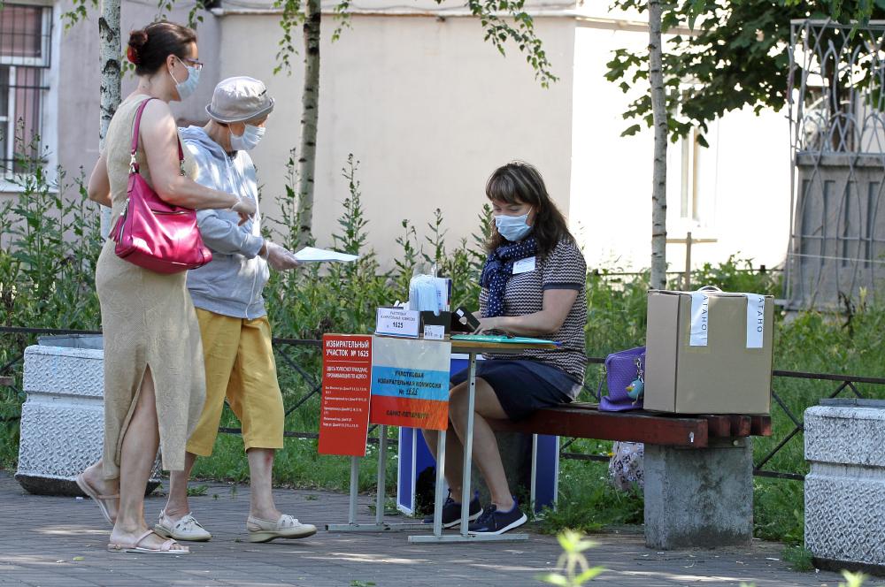фото ЗакС политика 9% избирателей Петербурга проголосовали в первый день плебисцита по поправкам