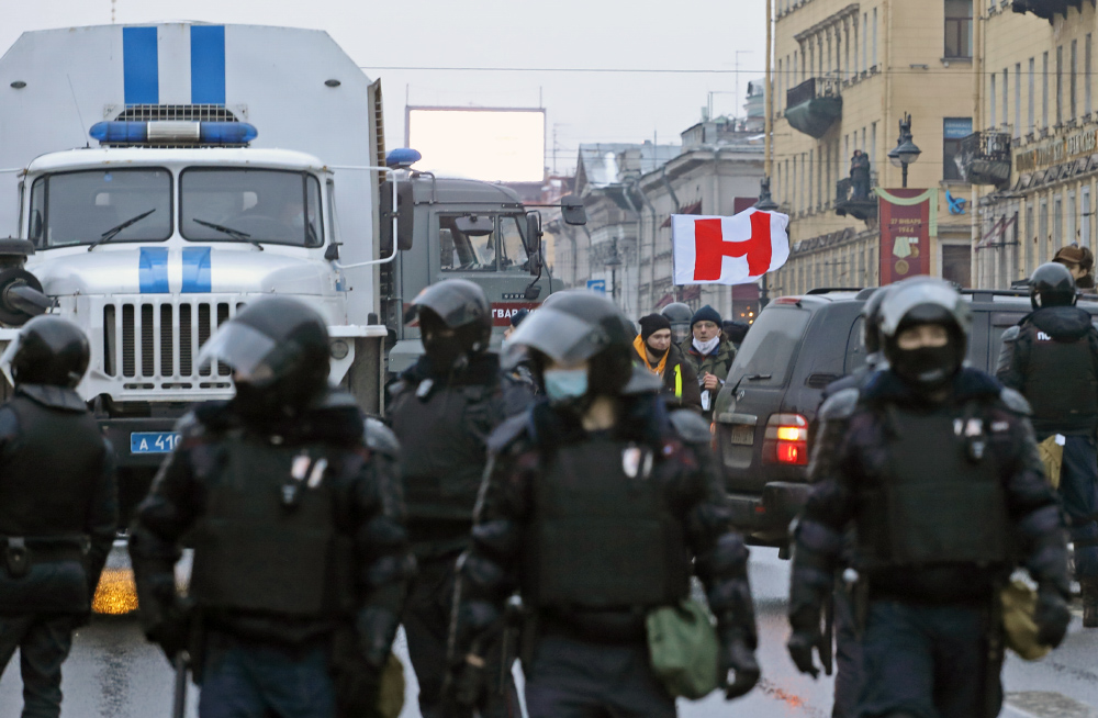 фото ЗакС политика Перекрытие центра Петербурга во время январских протестов не оплачивалось из бюджета города